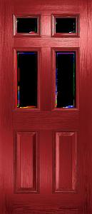 door_classical_half_glaze_red