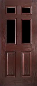 door_classical_half_glaze_rosewood