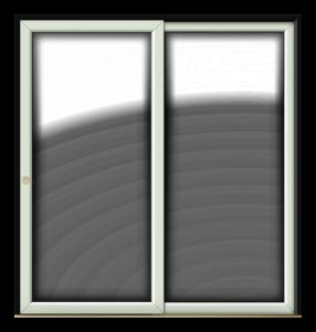 patio black on white
